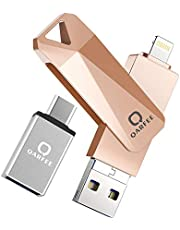 Universal Flash Drive 32/64/128GB,QARFEE Zinc Alloy USB External Storage Memory Stick Pen Flash Drive Compatible for iPhone,iPad,iPod,Mac,iOS/Android Phone and PC