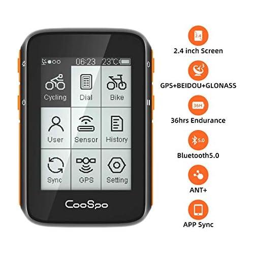 chollos oferta descuentos barato CooSpo Ordenador de Ciclismo GPS Inalámbrico para Bicicleta Velocímetro Rastreador de Ciclismo Resistente al Agua 2 4 Pulgadas con Bluetooth y Ant