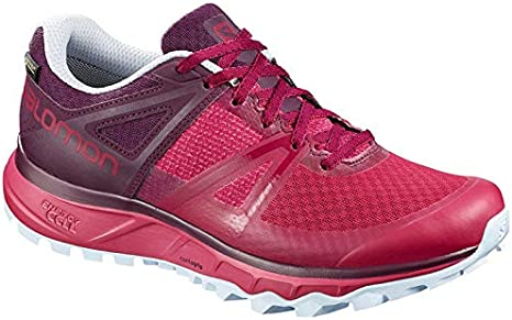 SALOMON Trailster GTX Gore-Tex W Womens Trail Running Shoes Size UK 5.5, Cerise/Potent Purple/Heather - Rojo, 38 2/3: Amazon.es: Deportes y aire libre