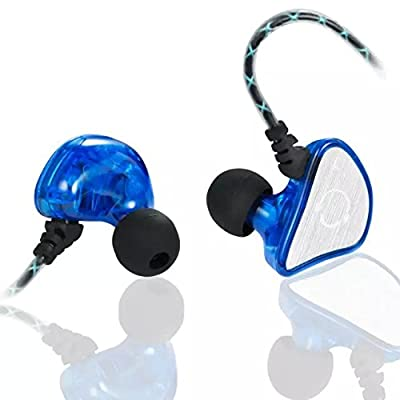 VBASS In-Ear Headphones Noise Isolating Earbuds with Microphone Sweatproof Secure Fit Designed to Stay in your Ears