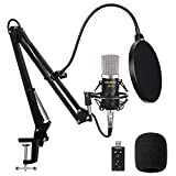Aokeo AK-70 Professional Studio Broadcasting Recording Condenser Microphone & AK-35 Adjustable Recording Microphone