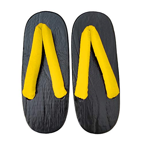 Sandals Traditional Shoes Ez yellow Japanese Geta A sofei black Sole Wooden Women's Clogs tZqqBR8