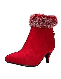 Chila Zuban Women Fashion Short Boots Zipper