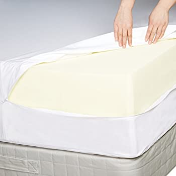 Amazonbasics Fully-encased Waterproof Mattress Protector - Queen, Standard 12 To 18-inch Depth 2