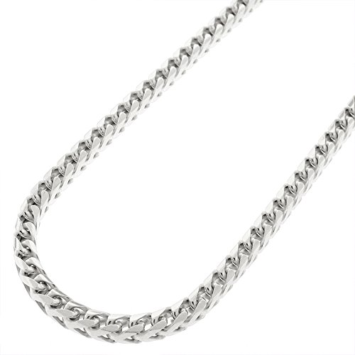 Sterling Silver Franco Rhodium Necklace product image
