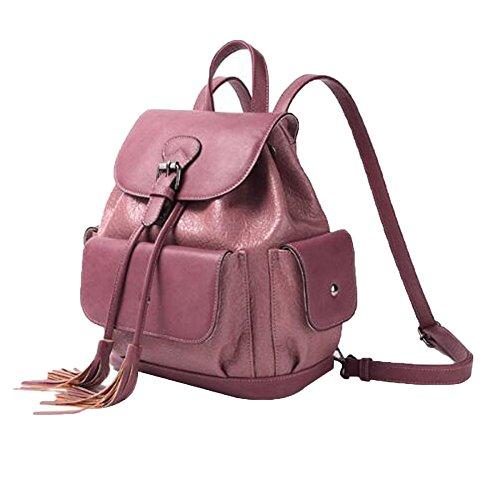 Backpack Sac Les Occasionnel Bandoulière Purple à ADEMI Bandoulière Pour En Cuir Véritable Womens Filles Sac à aSwqT