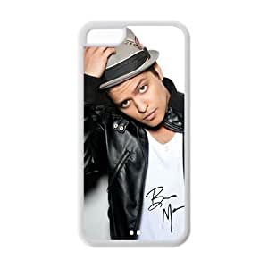 Bruno Mars Super Star wear a Hat Case Fits Iphone 5C Cover Snap-On Protector for Apple I Phone