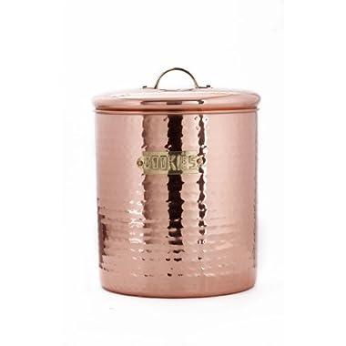 Hammered Décor Copper Cookie Jar, 4 Qt.