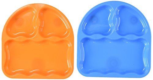 NUK Gerber Graduates Tri-Suction Plates, 2-Pack Toddler Dish