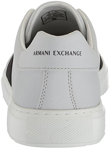 X A Exchange Cut Laces Low Armani Silver Men No Sneaker dTTxrq