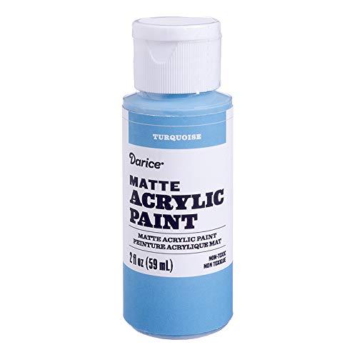 - Darice DPCS176-63 Matte Turquoise, 2 Ounces Acrylic Paint,