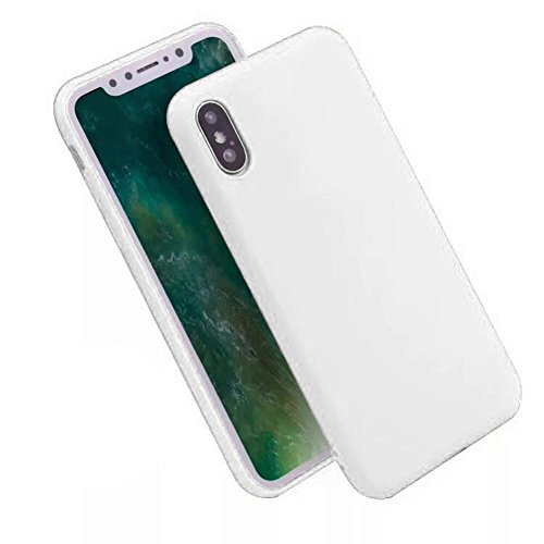 Coohole Fashion New Ultra Thin TPU Soft Protective Case Cover for iPhone X 5.8inch (X, White)