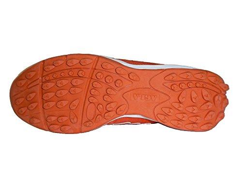 AGLA - Zapatillas de fútbol sala de Material Sintético para hombre Amarillo amarillo 27.5 Orange/White
