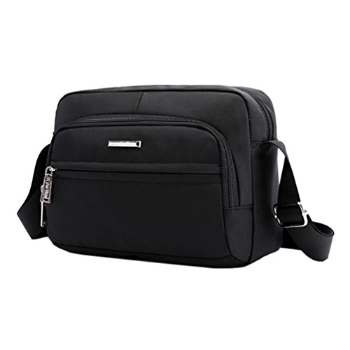 Fabuxry Women Nylon Shoulder Bags Cross Body Handabgs Travel Purses (Black) by Fabuxry