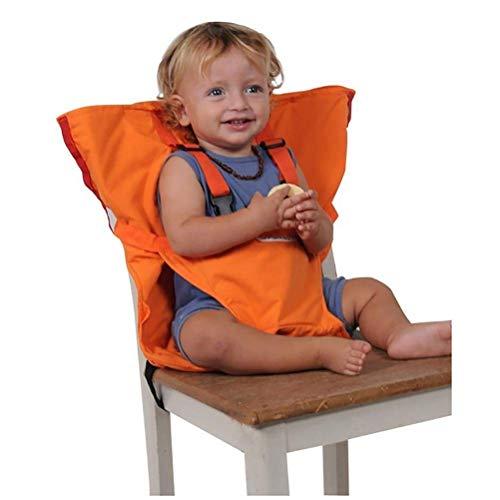 TRNMC Trona de Viaje portátil TRNMCMC y Asiento de Seguridad para bebés y niños pequeños,Naranja
