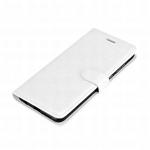 Laybomo Schuzhülle Huawei nova 2s Hülle Ledertasche Weiches Gummi Silikon TPU Haut Beutel Schützend Stehen Bilderrahmen Brieftasche Schale Tasche Handyhülle für Huawei nova 2s (Braun) Weiß