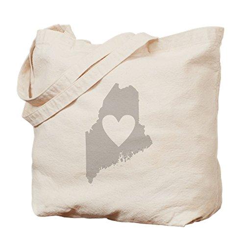 CafePress - Heart Maine - Natural Canvas Tote Bag, Cloth Shopping - Bangor Shopping Maine