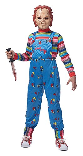 Franco American Novelty Company Boy's Chucky Outfit Horror Theme Party Child Halloween Costume, Child M/L (10-12) -