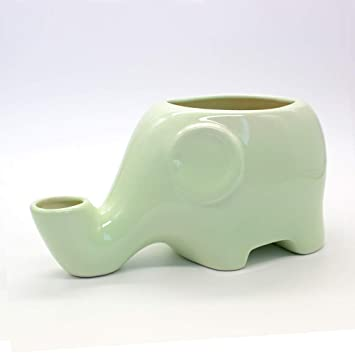 LIUQIAN Tazón de Fuente de Agua para Mascotas Gato Elefante Modelo de cerámica tazón de Fuente de Agua Anti-vuelco Mojado Cuenco de cerámica Cuenco: ...