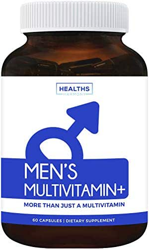 Multivitamin for Men (Non-GMO) Daily Mens Vitamins & Multimineral Plus Energy Boost, Prostate Support, Eye Health & Antioxidants with Saw Palmetto, Biotin, Lutein for Men - 60 Capsules - Multi Tablet