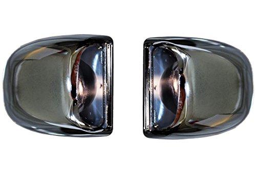 PT Auto Warehouse GM-5522M-P - Backup License Plate Lamp Light Lens Cover, Chrome - Set of 2 (Set Backup Lamp)