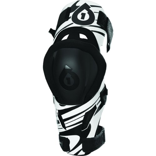 SixSixOne Unisex MX-3 Camber Knee Brace Off-Road Motorcycle Body Armor - White/Black / (Sixsixone Body Armor)
