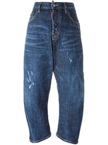 Dsquared2 Femme S75LA0799S30144470 Bleu Coton Shorts