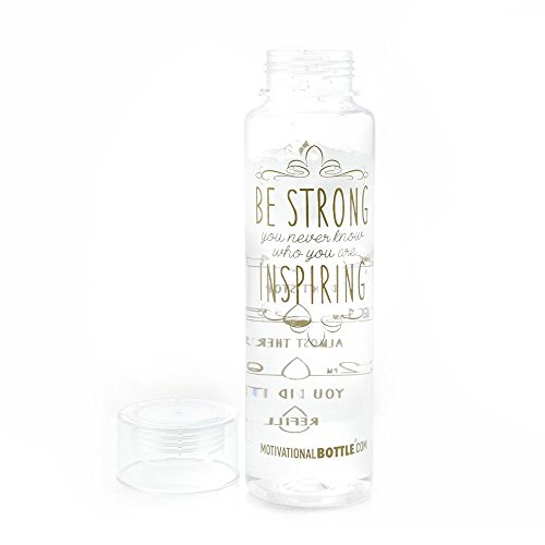 Clear Gold Be Strong Motivational Bottle®