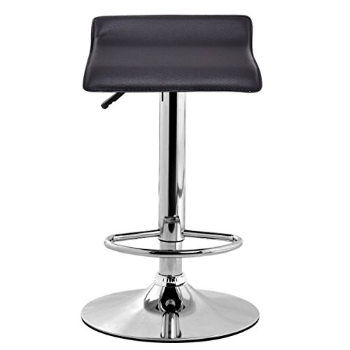 1 PC Modern Leather Bar Stool Adjustable Swivel Diner Counter Chair Black (Miller Light Bar Stool)