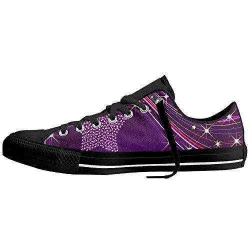 GuRi Custom Purple Star Women's Low Top Canvas Shoes For Fans (Goku Shoes For Sale)