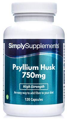 (Psyllium Husk 750mg 120 Capsules | May Support Healthy Digestion and Weight Loss)