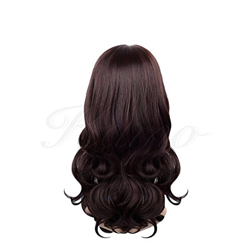 Dark Brown Charming Long Wavy Hair Wig + Wig Cap