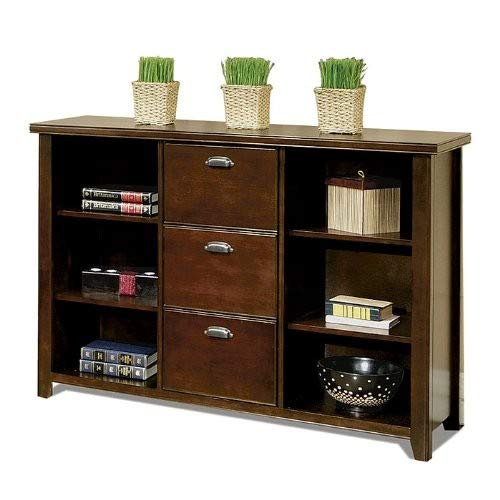 Martin Furniture Martin Tribeca Loft Cherry 3 Drawer File Bookcase – Fully Assembled,