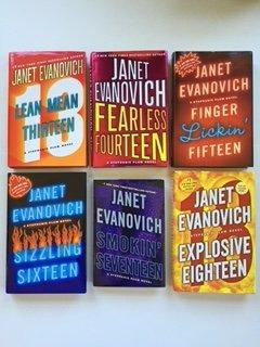 Janet Evanovich: Stephanie Plum Series (6 Book Set) Lean Mean Thirteen -- Fearless Fourteen -- Finger Lickin' Fifteen -- Sizzling Sixteen -- Smokin' Seventeen -- Explosive Eighteen.
