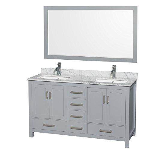 (Wyndham Collection WCS141460DGYCMUNSM58 Transitional Sheffield Vanity, Gray)