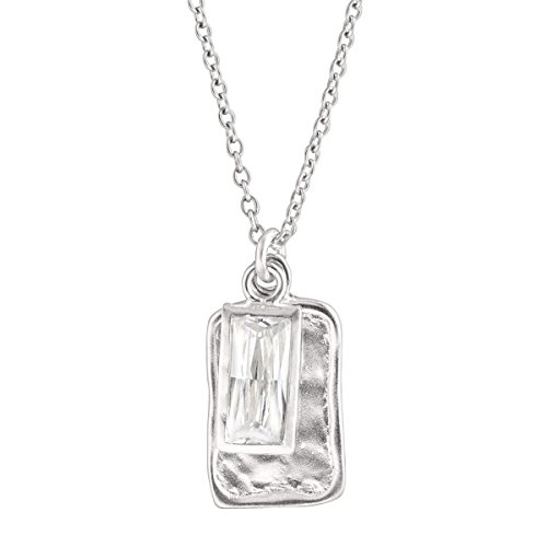 Silpada 'Creative Spark' Cubic Zirconia Pendant Necklace in Sterling Silver