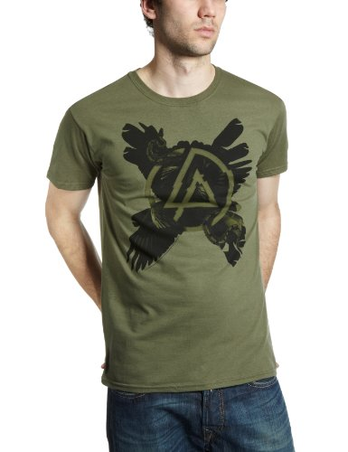 Linkin Park Cross Feathers Official Mens New Black T Shirt All Sizes