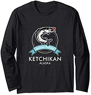 [Featured] Ketchikan Alaska Salmon Fishing Worlds Best Fishing Spot Long Sleeve in ALL styles | Size S - 5XL