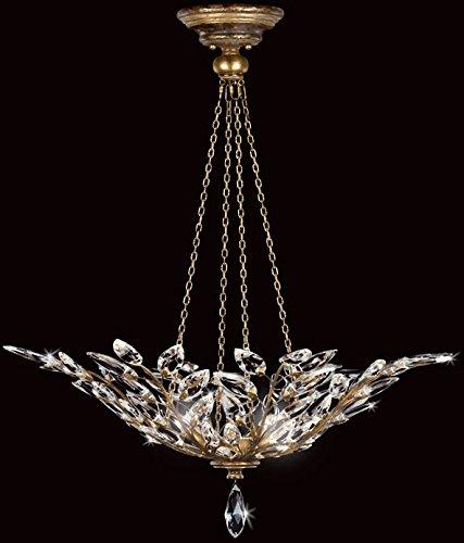 Chandelier Laurel Crystal Gold (Fine Art Lamps 776340, Crystal Laurel Large Bowl Pendant, 4 Light, 240 Total Watts, Gold)