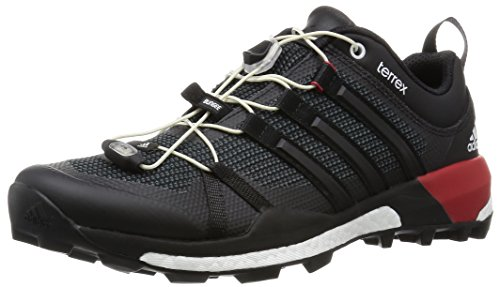 adidas Terrex Boost, Zapatos de Low Rise Senderismo para Hombre Negro (Core Black/Dark Grey/Power Red)