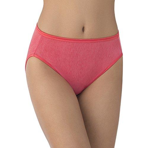 (Vanity Fair Women's Illumination Hi Cut Panty, Grapefruit, X-Large/8)
