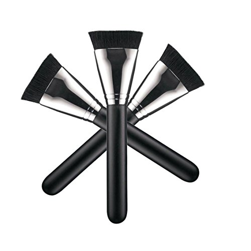 HOSL Flat Makeup Brushes Contour Brush Foundation Brush-1 PCS Silver and Black Color (Silver and Black)