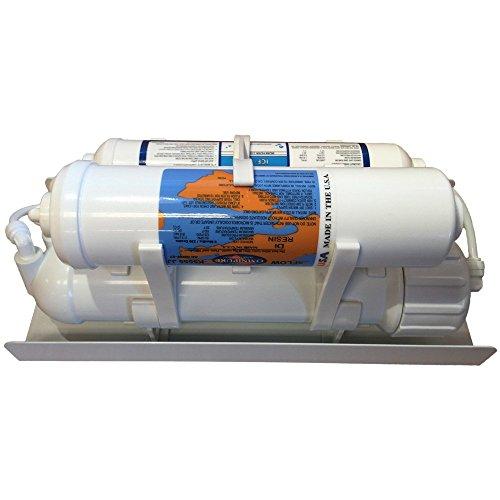 Mikro Delta Portable 4 Stage Aquarium RO/DI Filter System w/ 75 GPD Membrane (Fish Tank Cleaner 3 Gallon compare prices)