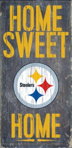 Fan Creations Pittsburgh Steelers Home Sweet Home Wood Sign ()