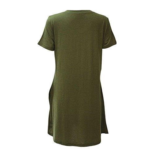 30d517a70a2c ... Damen Casual Hülsen-lose einfache Kurzen Ärmeln Maxi kleidet beiläufige  mit Taschen A-Linie ...