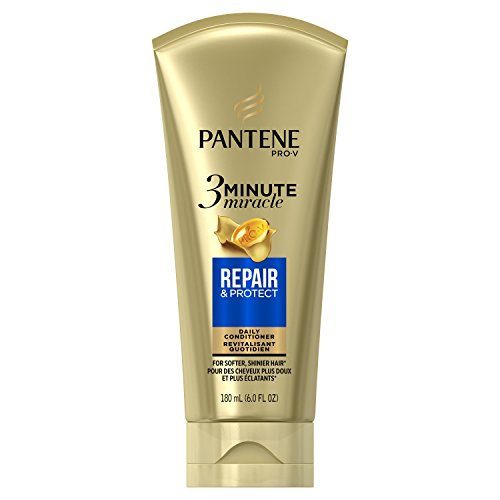 Pantene Repair and Protect 3 Minute Miracle Deep Conditioner, 6 Fluid Ounce (Pantene 3 Minute Miracle Moisture Renewal Deep Conditioner)
