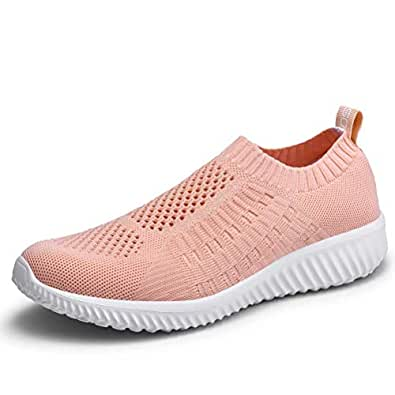 8b317fc8ac Image Unavailable. Image not available for. Color: konhill Women's Casual  Walking Shoes - Breathable Mesh Work Slip-on ...