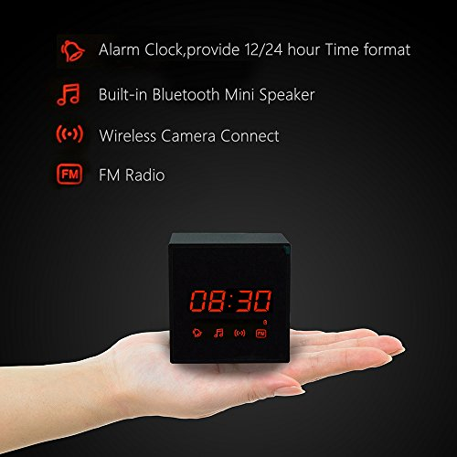 LIZVIE HD Wireless Spy Clock Camera- Auto Night Vision Camera,Motion Detection Invisible Cam,Home Security Monitor Alarm Clock Camera,Music Player,FM Radio(Pro Model)