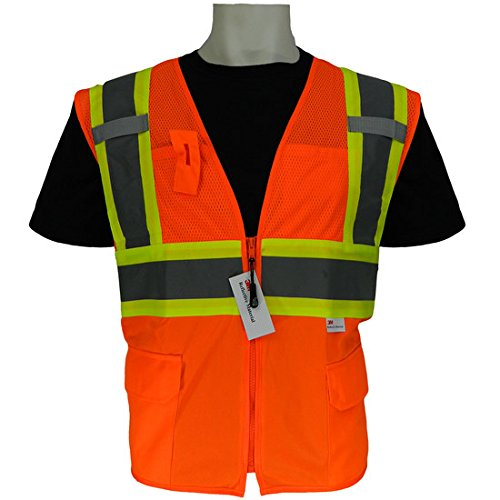 X-Large FrogWear Solid Bottom and Mesh Class 2 Surveyor Vest Global Glove GLO-0047