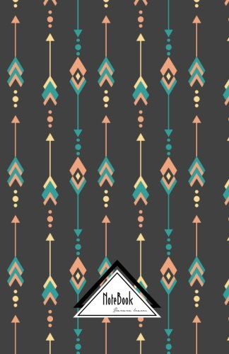 """Download Notebook Journal Dot-Grid,Graph,Lined,No lined: Bohemian Tribal Arrow Line Geometric Dark Grey Background: Small Pocket Notebook Journal Diary, 120 pages, 5.5"""" x 8.5"""" (Blank Notebook Journal Dairy) pdf epub"""